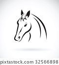 Vector of a horse head on white background. 32566898