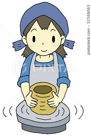 Ceramic woman 32568063