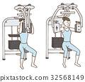 锻炼肌肉 肌肉练习 女性 32568149