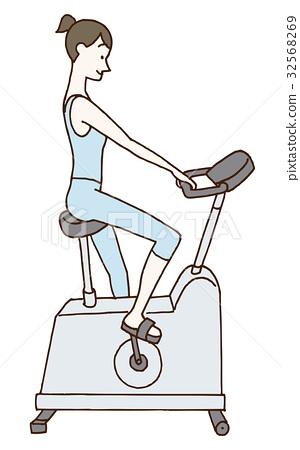 锻炼肌肉 肌肉练习 女性 32568269