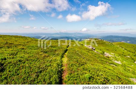 path through the mountain ridge in summer 32568488