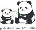 대나무를 가지고있는 따끈 따끈 팬더의 부모 일러스트 32568860