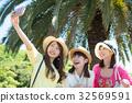 여자 여행 셀카 여성 3 명 32569591