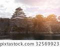 Osaka castle ancient historic landmark 32569923