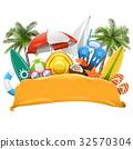 Vector Beach Yellow Banner 32570304