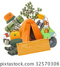 Vector Camping Concept with Tent 32570306