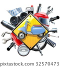 Vector Motorcycle Spares with Scooter 32570473