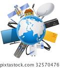 satellite, planet, equipment 32570476