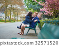 Romantic couple in Paris near the Eiffel tower 32571520