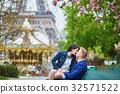Happy romantic couple in Paris 32571522