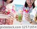 열대 음료 여자 여행 32571654