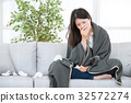 Sick Woman Woman Caught Cold and flu 32572274