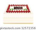 생일 케이크 사각 장식 32572356