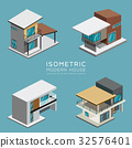 Modern house isometric collections 32576401