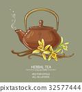vanilla tea illustration 32577444