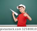 boy, plane, origami 32580810
