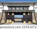 nijo castle, motorikyu nijo-jo, higashiote gate 32581672