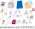 Illustration set for disaster prevention goods 32581821
