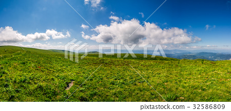 hillside panorama in mountains in summer 32586809