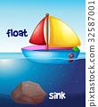 boat, floating, sink 32587001