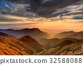 大天井岳에서 보는 일출과 유명산 아즈미노 전망 32588088