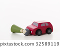 Traffic accident frontal collision car doll automobile whiteback vehicle passenger car 32589119