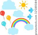 rainbow, cloud, clouds 32589384