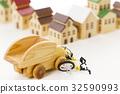 交通事故 自転車 車 自動車 街 町 住宅街 32590993
