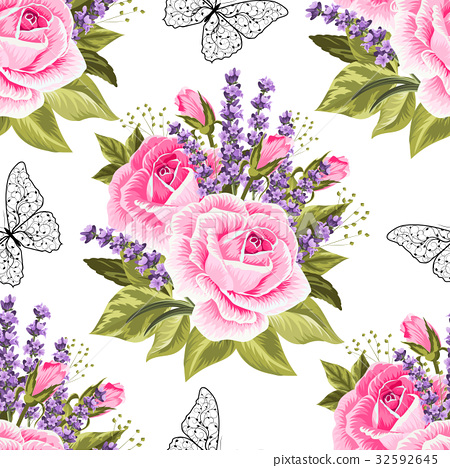 Seamless floral pattern 32592645