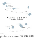 Cape Verde political map 32594980