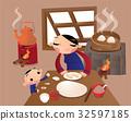 벡터, 식품, 요리사 32597185