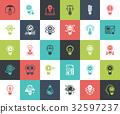 Light bulbs icons 32597237