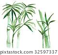 bamboo, leaf, foliage 32597337