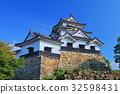 Hikone castle tower and oar 32598431