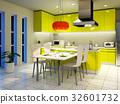 廚房 餐桌 室內裝飾 32601732