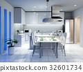 廚房 餐桌 室內裝飾 32601734