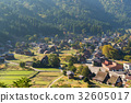 village, shirakawago, japanese 32605017