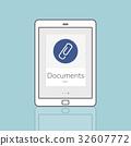 Paper Clip Mail File Attachment Graphic 32607772