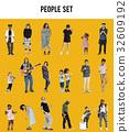 Diverse of People Enjoy Music Lifestyle Studio Isolated 32609192