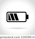 battery icon vector 32609614
