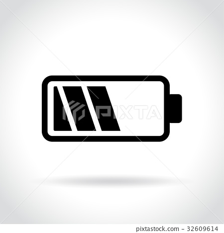 battery icon on hite background 32609614