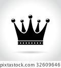 crown icon vector 32609646