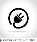 plug, icon, electric 32609653