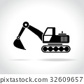 excavator icon on white background 32609657