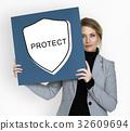 Protect Guard Security Umbrella Graphics Icons Symbols 32609694