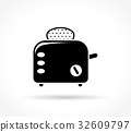 toaster, icon, bread 32609797