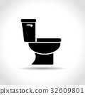 toilet icon on white background 32609801