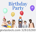 Group of children celebrate the party 32610260
