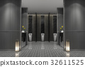 3d rendering luxury public male toilet 32611525
