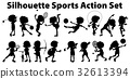silhouette sports action 32613394